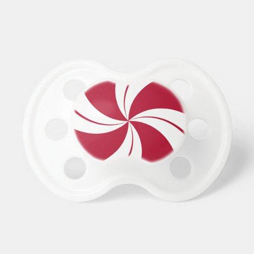 Peppermint Swirl Stripe Candy BooginHead Pacifier