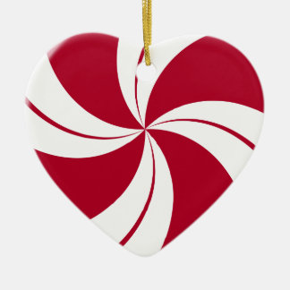 Peppermint Swirl Stripe Candy Ceramic Ornament