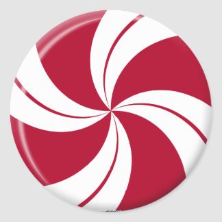 Peppermint Swirl Stripe Candy Classic Round Sticker