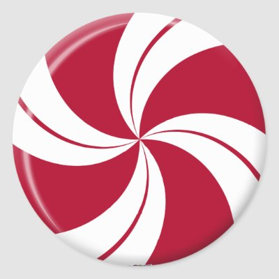 Red Peppermint Candy Stickers
