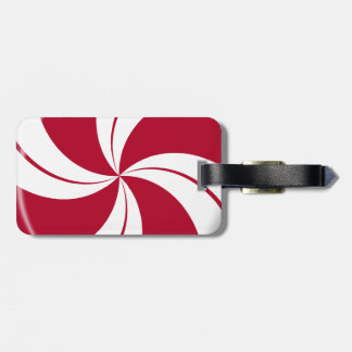 Peppermint Swirl Stripe Candy Luggage Tag