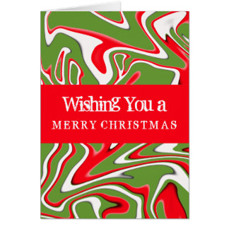 Peppermint Swirl with Green-Customizable Color Greeting Card