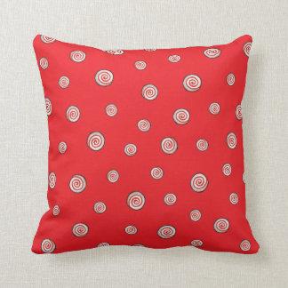 Peppermint Swirls Throw Pillow