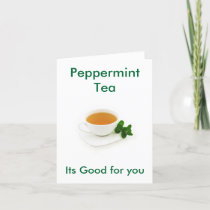 Peppermint Tea note card
