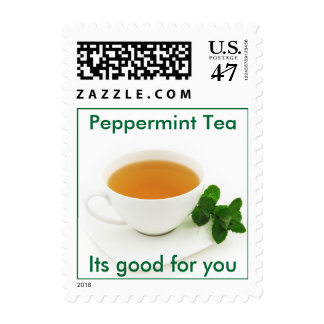 Peppermint Tea postage stamp