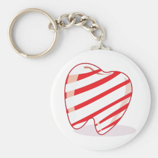 Peppermint Tooth Key Chain