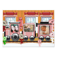 Peppermint Train Holiday Photo Card