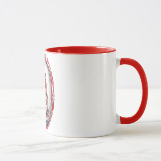 Peppermint Twist Christmas Elf Art Mug
