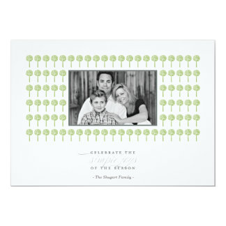 Peppermint Wicked Pattern Holiday Photo Card