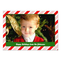 Peppermint Wrappings Holiday Card
