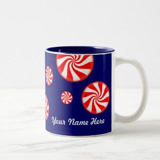 Peppermints Personalized Christmas Mug