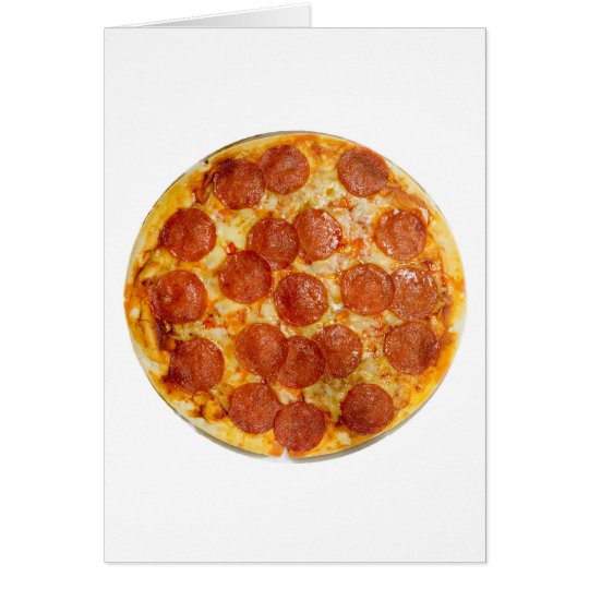 Pepperoni and cheese pizza card