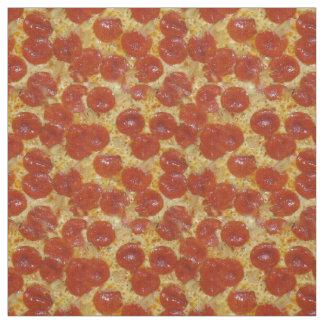 Pepperoni and Cheese Pizza Fabric