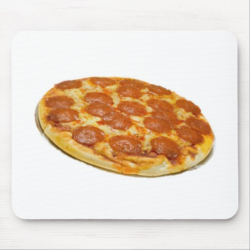 Pepperoni and cheese pizza mouse pad