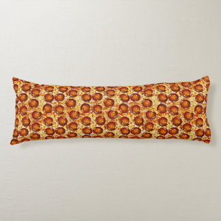 Pepperoni and Cheese Pizza Pattern Body Pillow