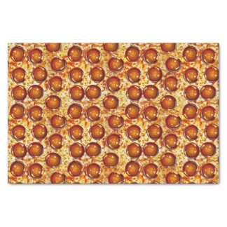 "Pepperoni and Cheese Pizza Pattern 10"" X 15"" Tissue Paper"