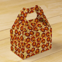 Pepperoni and Cheese Pizza Pattern Favor Box