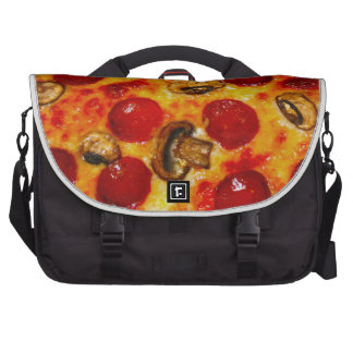 Pepperoni and Mushroom Pizza Bags For Laptop