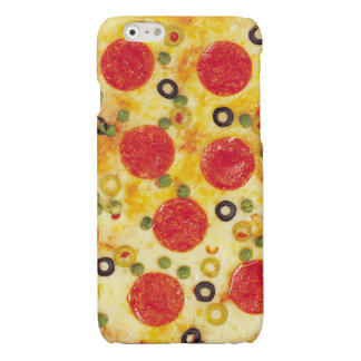 Pepperoni and Olives Pizza Glossy iPhone 6 Case