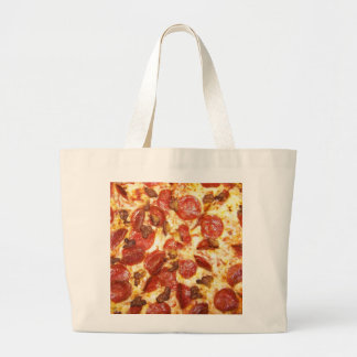 Pepperoni and Sausage Pizza Lover Canvas Bags