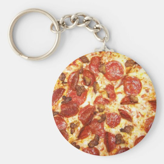 Pepperoni and Sausage Pizza Lover Keychain