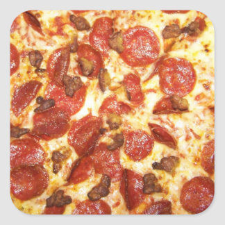 Pepperoni and Sausage Pizza Lover Square Sticker