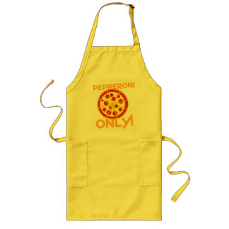 pepperoni only! pizza design long apron
