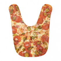 Pepperoni Pizza Baby Bib