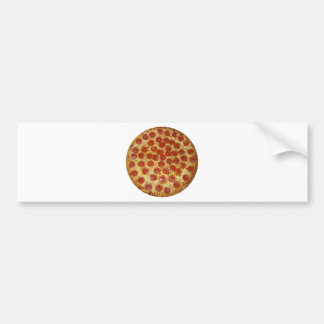 Pepperoni pizza bumper sticker