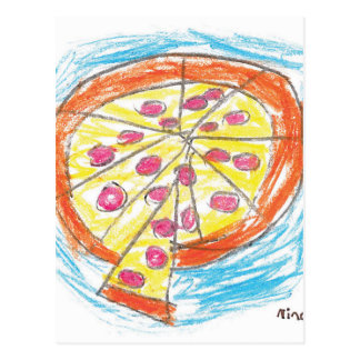 Pepperoni_Pizza_by_Nina_Age_6 Postcard