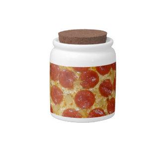 Pepperoni pizza candy dish