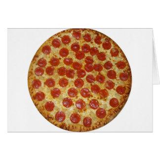 Pepperoni pizza card