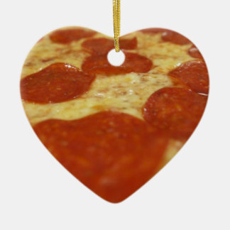 pepperoni pizza ceramic ornament