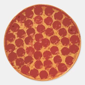 Pepperoni Pizza Classic Round Sticker
