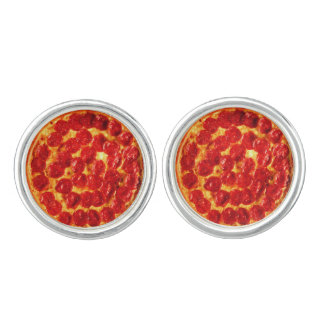 Pepperoni Pizza Cufflinks
