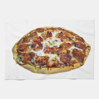 """Pepperoni Pizza"" design kitchen towel"