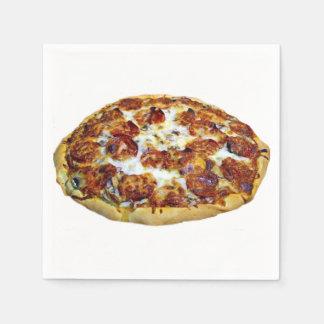 """Pepperoni Pizza"" design paper napkins"