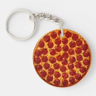 Pepperoni Pizza Double-Sided Round Acrylic Keychain