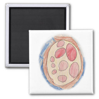 Pepperoni Pizza Drawing Magnet