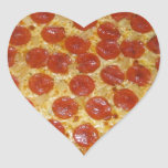 Pepperoni pizza heart sticker