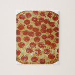 """Pepperoni Pizza Jigsaw Puzzle<br><div class=""""desc"""">Pepperoni Pizza just as it looks cheese and pepperoni.</div>"""