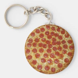 Pepperoni pizza key chains