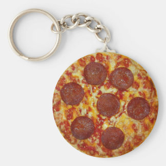 Pepperoni Pizza Keychain