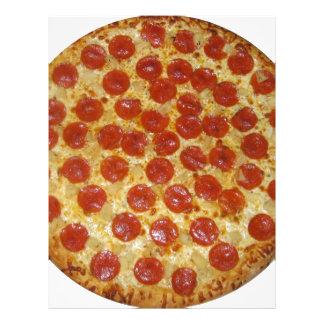 Pepperoni pizza letterhead