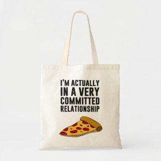 Pepperoni Pizza Love - A Serious Relationship Canvas Bags