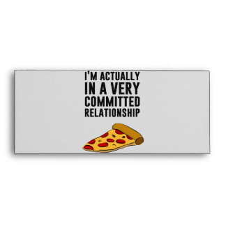 Pepperoni Pizza Love - A Serious Relationship Envelope