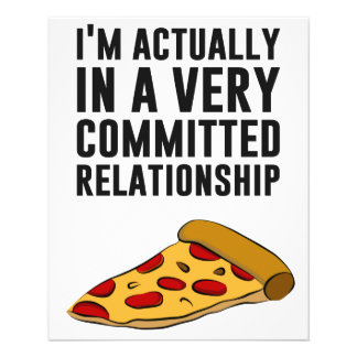 Pepperoni Pizza Love - A Serious Relationship Custom Flyer