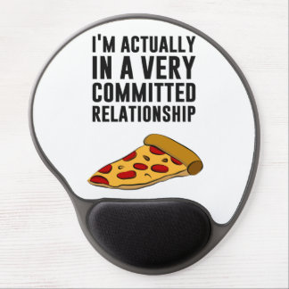 Pepperoni Pizza Love - A Serious Relationship Gel Mousepad