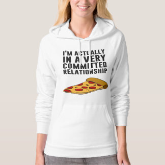 Pepperoni Pizza Love - A Serious Relationship Hoodie