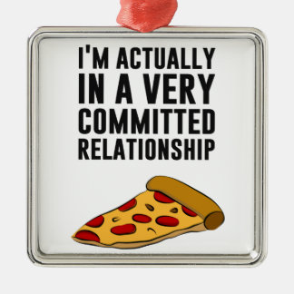 Pepperoni Pizza Love - A Serious Relationship Christmas Tree Ornaments